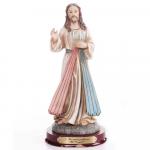 IMAGEM JESUS MISERICORDIOSO 20CM DE ALTURA