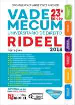 VADE MECUM UNIVERSITÁRIO DE DIREITO RIDEEL 2018