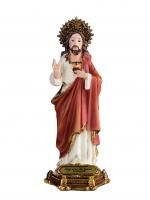 IMAGEM SAGRADO CORAÇÃO DE JESUS 15CM DE ALTURA