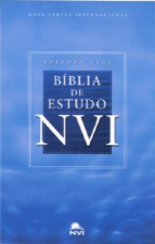 BIBLIA DE ESTUDO NVI - CAPA DURA NA COR AZUL CELESTE