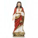 IMAGEM SAGRADO CORAÇÃO DE JESUS 20CM DE ALTURA BARROCO