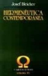 HERMENÊUTICA CONTEMPORÂNEA