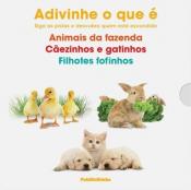 BOX ADIVINHA O QUE É - ANIMAIS DA FAZENDA CÃEZINHOS E GATINHOS E FILHOTES FOFINHOS