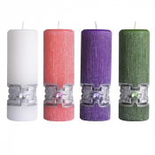 VELA DO ADVENTO ESCULPIDO BIZANTINO 15X07 - KIT COM 4 VELAS