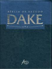 BÍBLIA DE ESTUDO DAKE - PRETO COM AZUL
