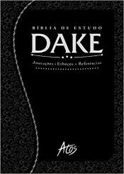 BÍBLIA DE ESTUDO DAKE - PRETA TRABALHADA - 2014 2015