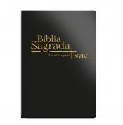 BIBLIA SAGRADA MEDIA NVI LUXO PRETA