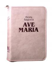 BIBLIA SAGRADA AM MEDIA ZIPER ROSA STRIKE - 1º