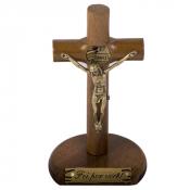 CRUCIFIXO MÃOS ENSANGUENTADAS DE JESUS 12CM MADEIRA PERSONALIZADO