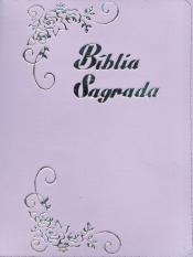 BÍBLIA SAGRADA TIJOLINHO LETRA GRANDE LILÁS ZIPER