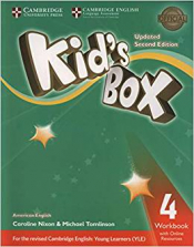 KIDS BOX LEVEL 4 WORKBOOK WITH ONLINE RESOURCES AMERICAN ENGLISH  - SECOND EDITION
