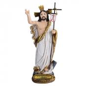 IMAGEM JESUS RESSUSCITADO 15CM DE ALTURA