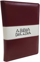 BÍBLIA DIA A DIA 2020 - LUXO LISO VINHO BRANCO GLITTER