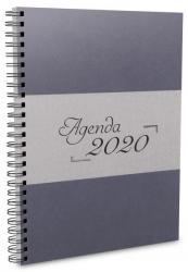 AGENDA DIÁRIA DE MESA - WIRE-O 2020 - CINZA PRATA