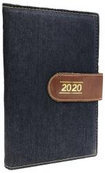 AGENDA DIÁRIA DE MESA COSTURADA 2020 - JEANS