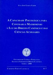 CAPACIDADE PSICOLOGICA PARA CONTRAIR O MATRIMONIO...
