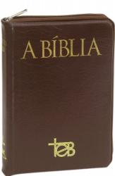 BÍBLIA TEB POPULAR MÉDIA ZÍPER