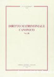 DIRITTO MATRIMONIALE CANONICO VOLUME 03 - 1ª