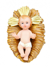 MENINO JESUS COM MANJEDOURA RESINA 07CM DE ALTURA