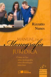 MANUAL DA MONOGRAFIA JURIDICA  - 4ª