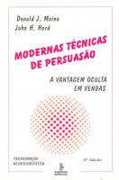 MODERNAS TÉCNICAS DE PERSUASÃO