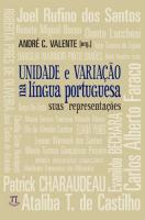 UNIDADE E VARIACAO NA LINGUA PORTUGUESA