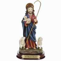 IMAGEM JESUS BOM PASTOR 13CM DE ALTURA