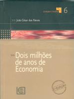 DOIS MILHÕES DE ANOS DE ECONOMIA