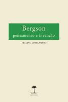BERGSON - PENSAMENTO E INVENÇÃO