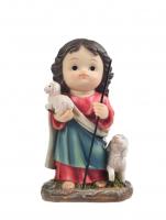 IMAGEM JESUS BOM PASTOR INFANTIL 10CM DE ALTURA