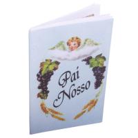 ORAÇÃO SANFONADA PAI NOSSO - PACOTE COM 50 UNIDADES