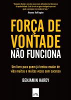 FORÇA DE VONTADE NÃO FUNCIONA