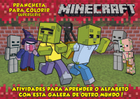 MINECRAFT PRANCHETA P COLORIR ALFAB- SUPERSERIE