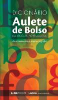 DICIONÁRIO AULETE DE BOLSO DA LÍNGUA PORTUGUESA - Vol. 930