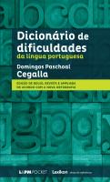 DICIONÁRIO DE DIFICULDADES DA LÍNGUA PORTUGUESA - Vol. 665