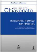 DESEMPENHO HUMANO NAS EMPRESAS - COMO DESENHAR CARGOS E AVALIAR O DESEMPENHO PARA ALCANÇAR RESULTADOS
