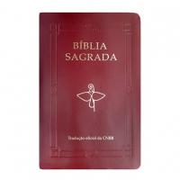 BÍBLIA SAGRADA LUXO VINHO - LETRA GRANDE - TRADUÇÃO OFICIAL DA CNBB