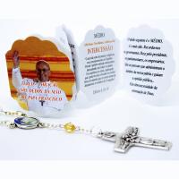 TERCO AB 558/1308 CRISTAL PAPA FRANCISCO ORACAO NOS DEDOS DA MAO