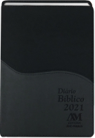 DIÁRIO BÍBLICO 2021 - LUXO - AZUL COM CINZA