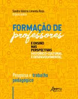 FORMAÇÃO DE PROFESSORES E ENSINO NAS PERSPECTIVAS HISTÓRICO-CULTURAL E DESENVOLVIMENTAL: PESQUISA E TRABALHO PEDAGÓGICO