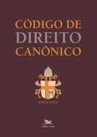 CÓDIGO DE DIREITO CANÔNICO (BOLSO COM CAPA CRISTAL) - EDIÇÃO BOLSO