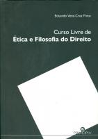 CURSO LIVRE DE ÉTICA E FILOSOFIA DO DIREITO