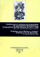 CRITERIOS PARA A AVALIACAO DE INCAPACIDADE DE CONSENTIMENTO MATRIMONIAL NA JURISPRUDENCIA DA ROTA ROMANA DE 1977 A 1986