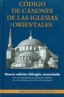 CODIGO DE CANONES DE LAS IGLESIAS ORIENTALES