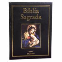 BÍBLIA SAGRADA ILUSTRADA LUXO PAE PRETA - CONTÉM 19 ORAÇÕES COM QR CODE