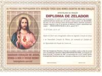 DIPLOMA DO APOSTOLADO DA ORAÇÃO ZELADOR