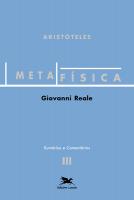 METAFÍSICA DE ARISTÓTELES (VOL. III - SUMÁRIOS E COMENTÁRIOS) - VOLUME III - SUMÁRIOS E COMENTÁRIOS