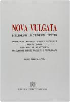 NOVA VULGATA BIBLIORUM SACRORUM EDITIO MINOR