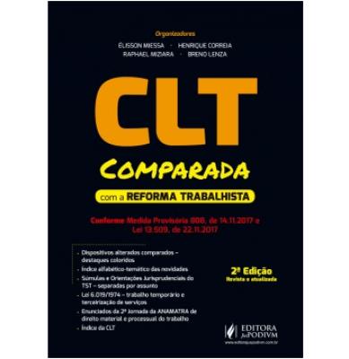 CLT COMPARADA COM A REFORMA TRABALHISTA - CONFORME MEDIDA PROVISÓRIA 808 DE 14.11.2017 E LEI 13.509 DE 22.11.2017