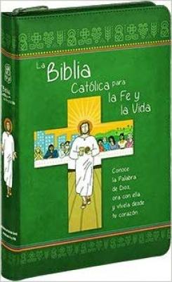 LA BIBLIA CATÓLICA PARA LA FE Y LA VIDA - EDICIÓN DOS TINTAS - SÍMIL PIEL CON CREMALLERA